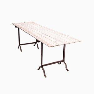 Tavolo da pranzo vittoriano con gambe a forma di cavalletto, fine XIX secolo