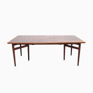 Mesa de comedor grande de palisandro de Arne Vodder para Sibast, años 50