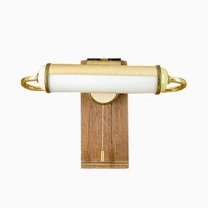 Brass Bedside Lamp with Clamp from PGH Beleuchtungskörper und Gerätebau, 1950s