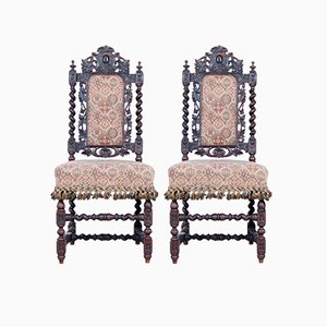 Carved Wood Chairs from James Shoolbred & Co., 1900s, Set of 2