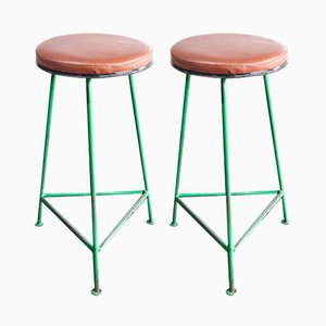 Industrielle russische Hocker, 1960er, 2er Set