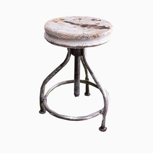 French Industrial Swivelling Welder's Stool, 1950s