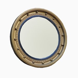 Vintage English Butler's Convex Mirror