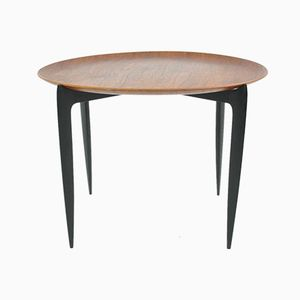 Tavolino con vassoio rimovibile di Willumsen & Engholm per Fritz Hansen, 1958