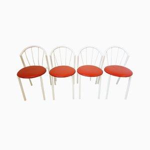 Vintage Stühle mit Metallgestell & Sitz aus Skai, 1970er, 4er Set