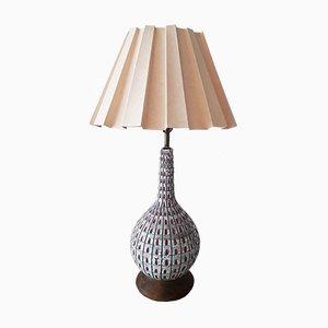 Große amerikanische Mid-Century Lampe aus Keramik