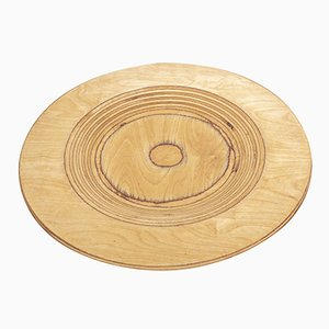Mid-Century Finnish Wooden Plate by Eero Saarinen for Keuruu, 1960s