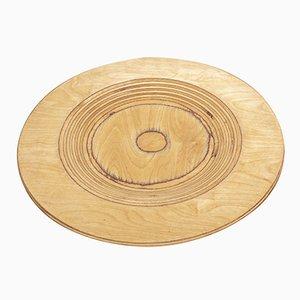Mid-Century Finnish Wooden Plate by Eero Saarinen for Keuruu, 1960s