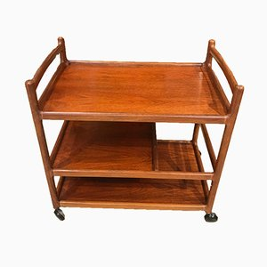 Danish Serving Bar Cart by Johannes Andersen for CFC Silkeborg, 1960s