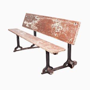 Panca o scrivania da scuola vittoriana di Edwin Smith Padiham Lancs, fine XIX secolo