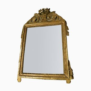 Antique Small Golden Mirror