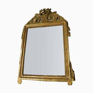 Petit Miroir Antique Doré
