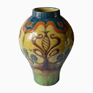 Bruges Arts and Crafts Vases, 1890s, Set of 2