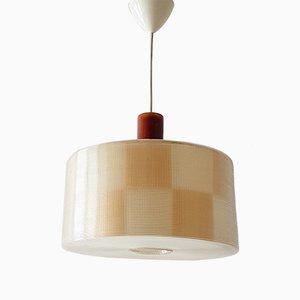 Lámpara colgante vintage de plástico, años 60