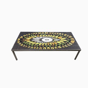 Vintage Coffee Table by Roger Capron, 1950s
