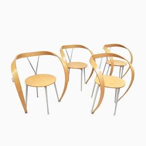 Revers Esszimmerstühle von Andrea Branzi für Cassina, 1990er, 4er Set