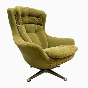 Vintage Green Wingback Swivel Chair