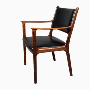 PJ-412 Rosewood Armchair by Ole Wanscher for Poul Jeppesens Møbelfabrik, 1960s