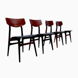 Vintage Esszimmerstühle von Louis van Teeffelen für Webe, 4er Set