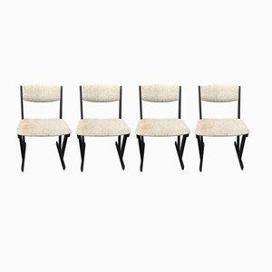 Skandinavische Esszimmerstühle, 1970er, 4er Set
