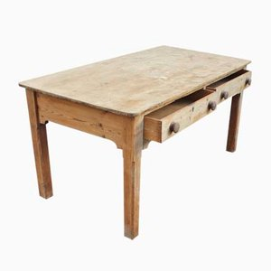 Vintage Stripped Pine Table, 1920s