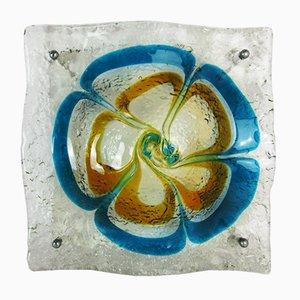 Lampada da soffitto in vetro sommerso di Murano di Carlo Nason per Mazzega, anni '50