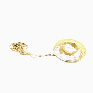 La Traviata Brooch Pendant in Yellow & Gold by Maria Juchnowska, 2015
