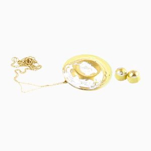 La Traviata Earrings in Yellow & Gold by Maria Juchnowska, 2015