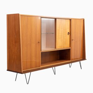 Highboard with Hairpin Legs, 1950s