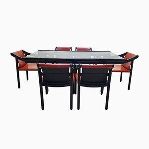 Tavolo e sedie da pranzo nr. 905 di Vico Magistretti per Cassina, anni '60