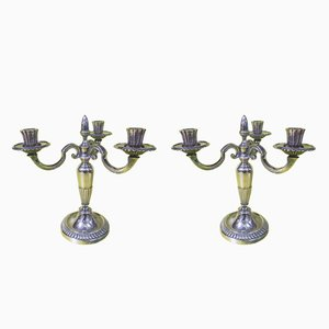 Silver-Plated Candleholders from Christofle, 1970s, Set of 2