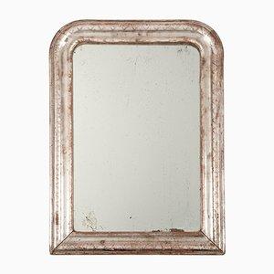 Antiker französischer Louis Philippe Spiegel aus Silberglas