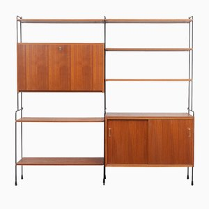Omnia Teak Shelving Unit from Hilker, 1960s