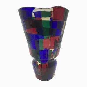 Vintage Pezzato Vase von Fulvio Bianconi für Venini
