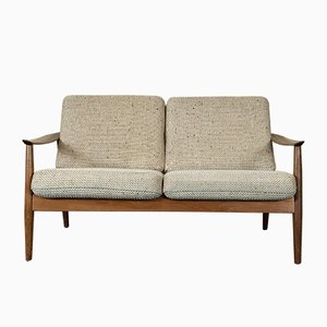 Vintage Teak 2-Seater Sofa by Arne Vodder for Cado