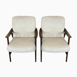 Vintage Danish Lounge Chairs, 1960s, Set of 2