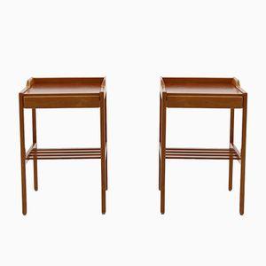 Tables de Chevet Mid-Century Scandinaves par Bertil Fridhagen pour Bodafors, 1960s, Set de 2