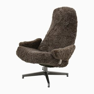 Mid-Century Scandinavian Contourett Roto Swivel Chair by Alf Svensson for Dux