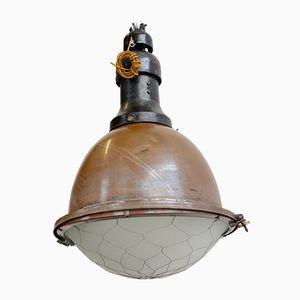 Grande Lampe d'Église Antique en Cuivre, 1910s