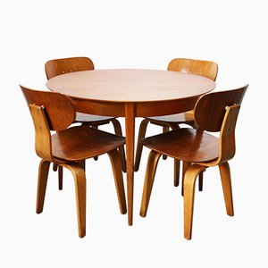 Mid-Century Teak Dining Set by Cees Braakman for UMS Pastoe, 1952