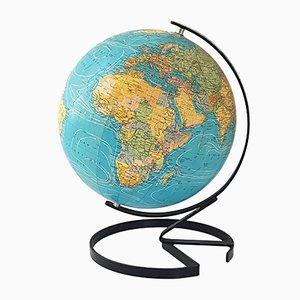 Französischer Mid-Century Globus aus Pappe & Stahl von Cartes Taride, 1950er