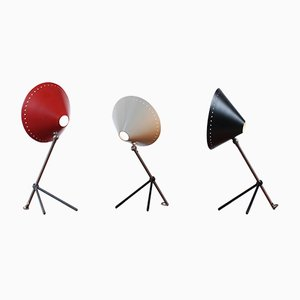 Pinocchio Tripod Table Lights by H. Th. J. A. Busquet for Hala, 1950s, Set of 3