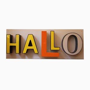 Mid-Century Illuminated HALLO Letters