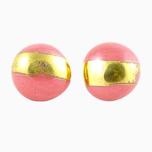 Green, Pink and Gold La Traviata Pendant by Maria Juchnowska, 2015