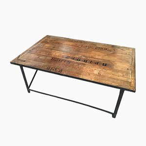 French Industrial Coffee Table, 1980s