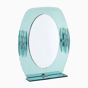 Specchio Mid-Century con luci e mensole di Fontana Arte, anni '60