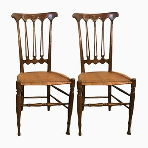 Mid-Century Chiavari Chairs, Set of 2