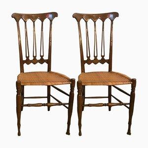 Mid-Century Chiavari Stühle, 2er Set