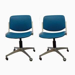 Vintage Swivel Chairs from Anonima Castelli, 1970s, Set of 2