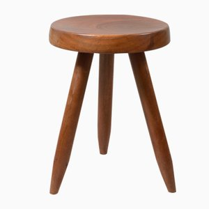 Wooden Stool by Charlotte Perriand, 1950s